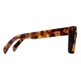 Céline - Square S130 Sunglasses in Acetate - Dark Havana Golden Leaf - Sunglasses - Céline Eyewear