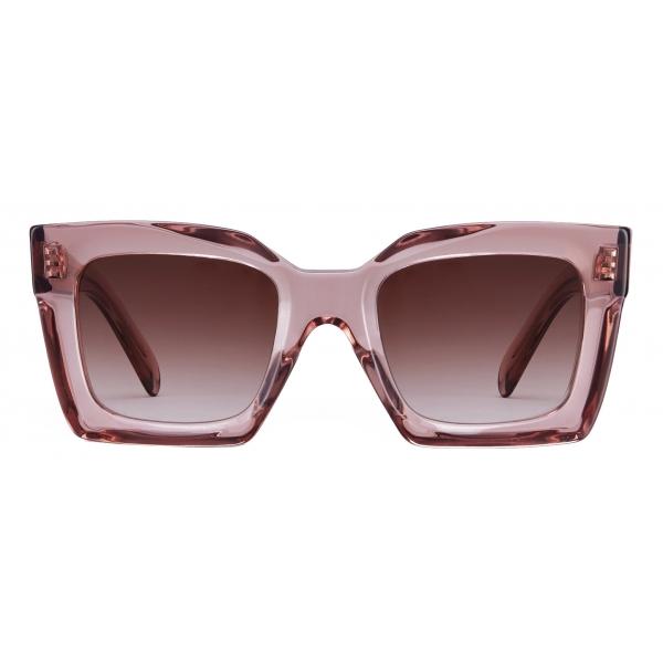 Céline - Square S130 Sunglasses in Acetate - Transparent Pink - Sunglasses - Céline Eyewear