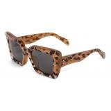 Céline - Square S156 Sunglasses in Acetate - Leopard - Sunglasses - Céline Eyewear