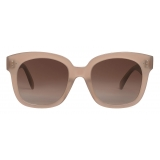 Céline - Square S181 Sunglasses in Acetate - Milky Hazelnut - Sunglasses - Céline Eyewear