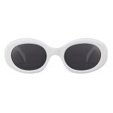 Céline - Triomphe 01 Sunglasses in Acetate - White - Sunglasses - Céline Eyewear
