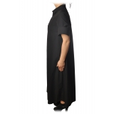 Ottod'Ame - Long Dress with Buttons - Black - Dresses - Luxury Exclusive Collection