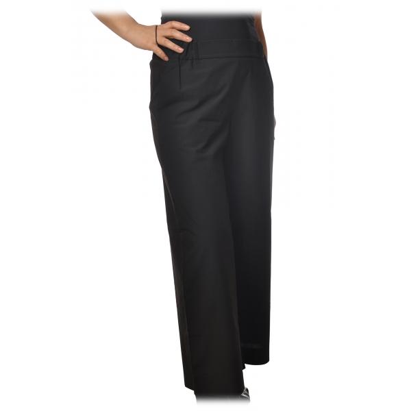 Ottod'Ame - Pantalone con Elastico in Vita - Nero - Pantaloni - Luxury Exclusive Collection