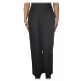 Ottod'Ame - Trousers with Elastic Waist - Black - Trousers - Luxury Exclusive Collection