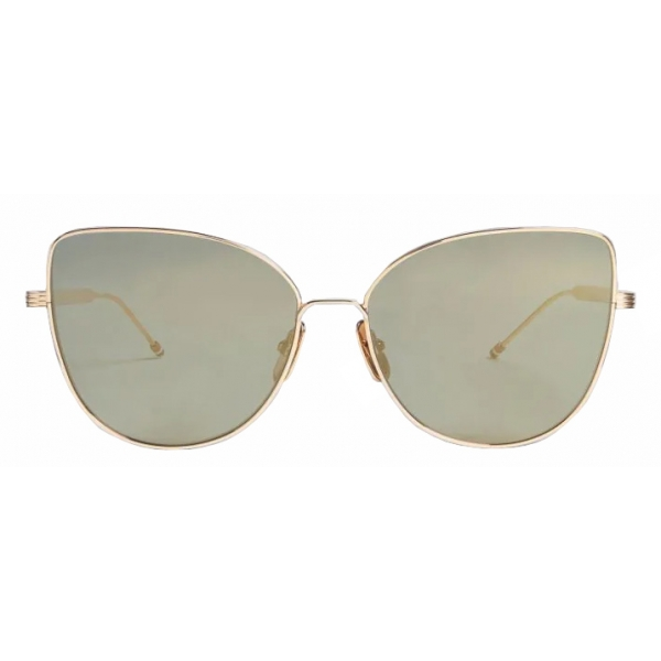 Thom Browne - Occhiali da Sole Cat Eye in Argento e Oro - Thom Browne Eyewear
