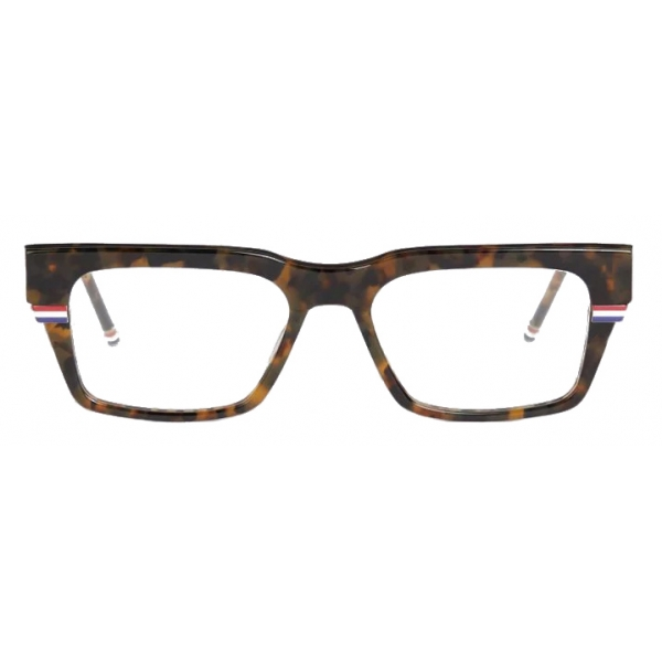 Thom Browne - Tortoiseshell Rectangular Sunglasses - Thom Browne Eyewear