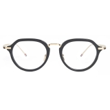 Thom Browne - Black and White Gold Clubmaster Eyeglasses - Thom Browne Eyewear