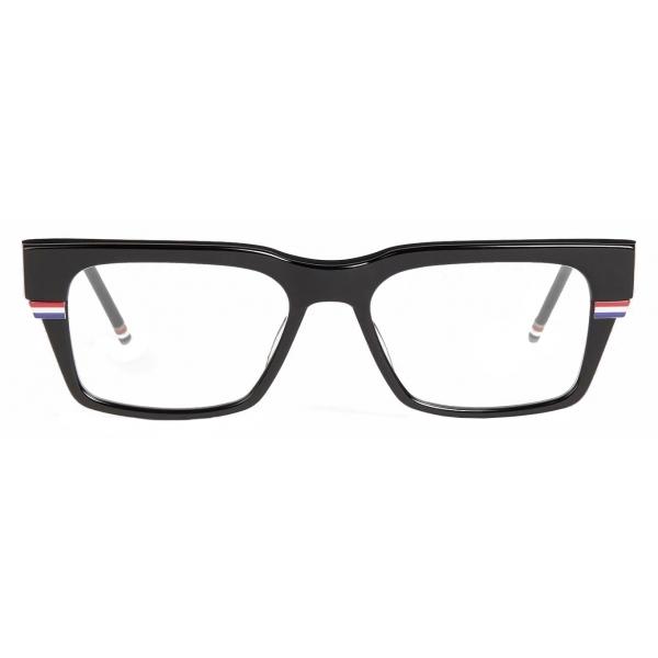 Thom Browne - Occhiali Rettangolari con Linea Tricolore Nera - Thom Browne Eyewear
