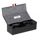 Thom Browne - Black Tri-Color Line Rectangle Glasses - Thom Browne Eyewear