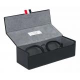 Thom Browne - Matte Navy and Silver Clubmaster Eyeglasses - Thom Browne Eyewear