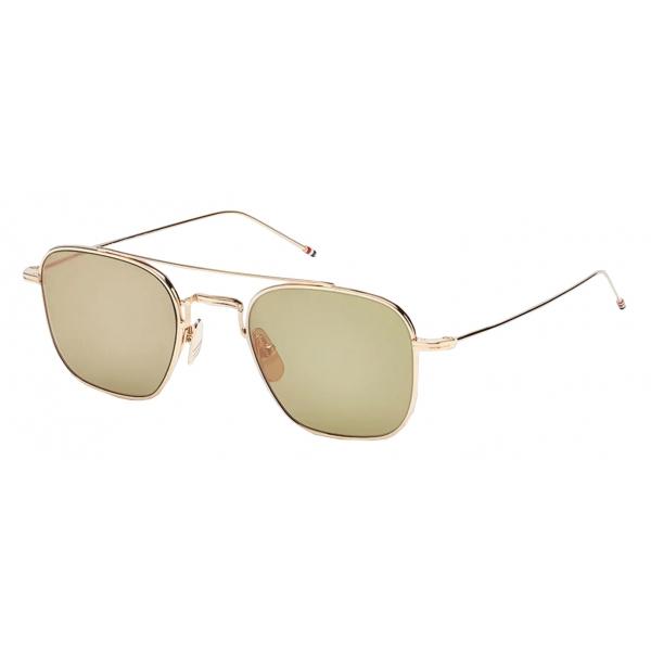 Thom Browne - White Gold Square Sunglasses - Thom Browne Eyewear
