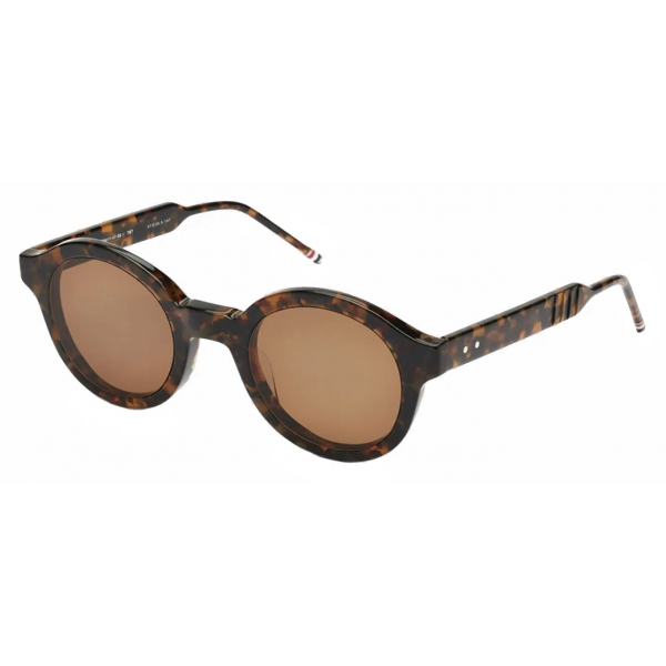 Thom Browne - Tortoise Tokyo Round Sunglasses - Thom Browne Eyewear