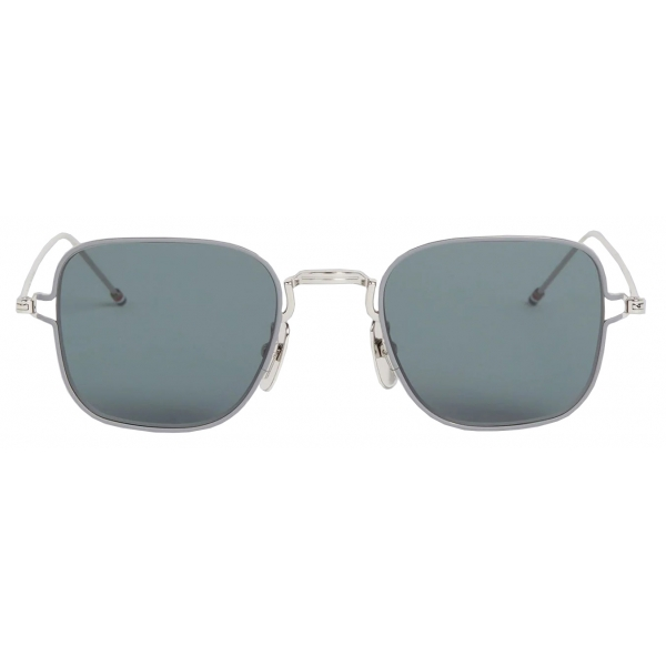 Thom Browne - Silver Thin Squared Sunglasses - Thom Browne Eyewear