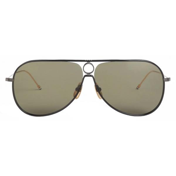 Thom Browne - Black Iron Aviator Sunglasses - Thom Browne Eyewear