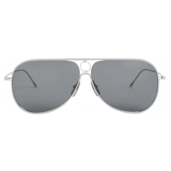 Thom Browne - Silver Aviator Sunglasses - Thom Browne Eyewear