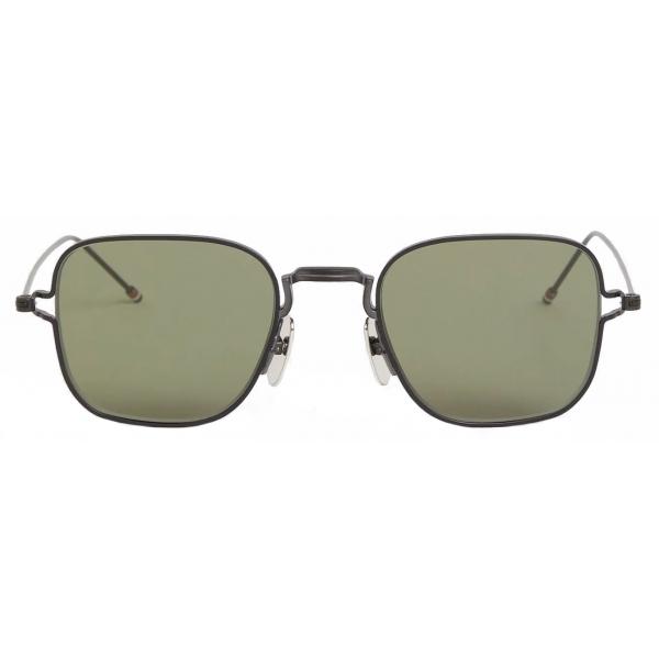 Thom Browne - Black Thin Squared Sunglasses - Thom Browne Eyewear