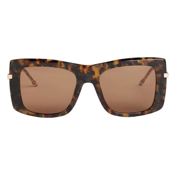 Thom Browne - Tortoise Squared Sunglasses - Thom Browne Eyewear