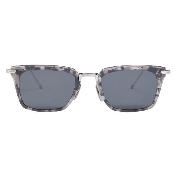 Thom Browne - Grey Tortoise Wayfarer Sunglasses - Thom Browne Eyewear