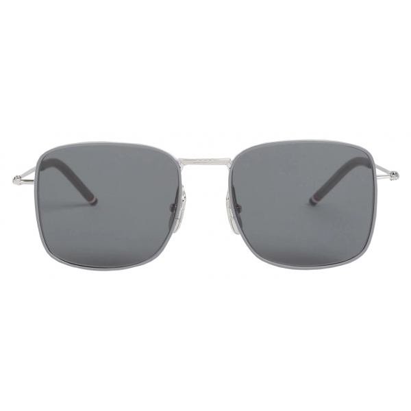 Thom Browne - Occhiali da Sole Aviator Quadrati Oversized Argento - Thom Browne Eyewear