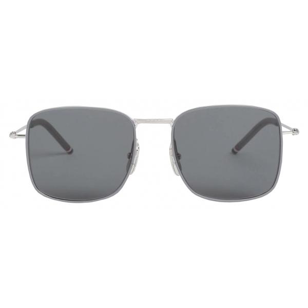 Thom Browne - Silver Oversized Squared Aviator Sunglasses - Thom Browne Eyewear