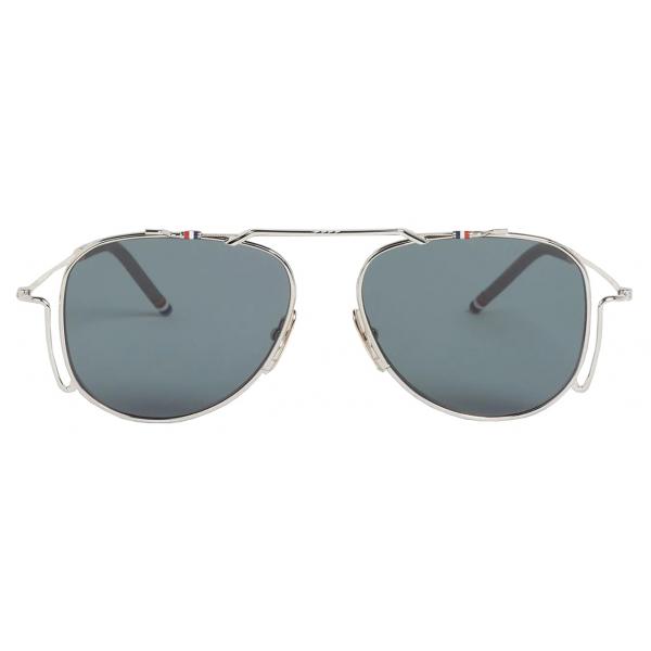 Thom Browne - Silver Classic Aviator Sunglasses - Thom Browne Eyewear