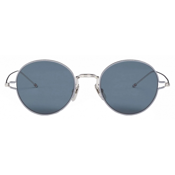 Thom Browne - Silver Round Eye Sunglasses - Thom Browne Eyewear