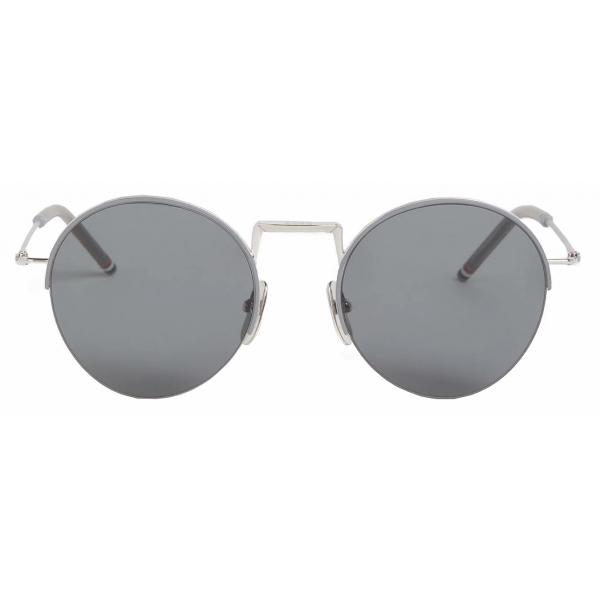 Thom Browne - Silver Hingeless Round Sunglasses - Thom Browne Eyewear