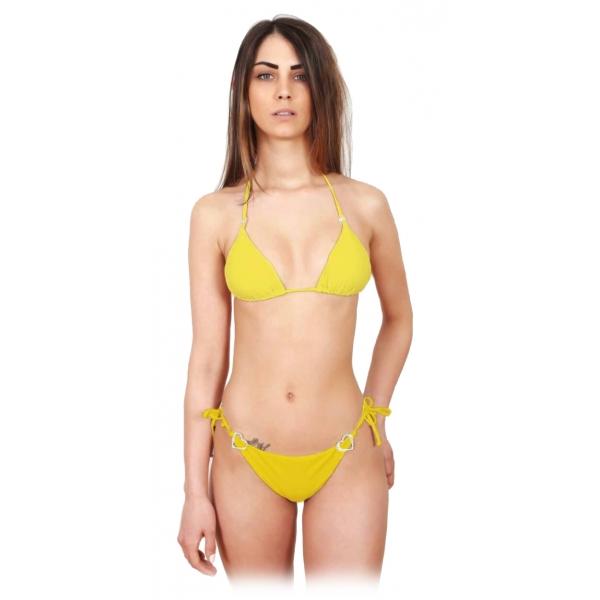 EP SheLux - Love21 - Yellow - Swarovski - Luxury Exclusive Collection - Made in Italy - Costume di Alta Qualità