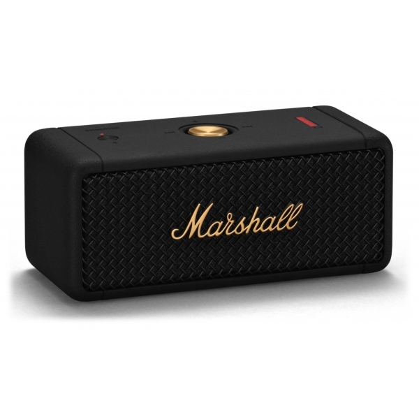 Marshall - Emberton - Black & Brass - Portable Bluetooth Speaker - Iconic Classic Premium High Quality Speaker