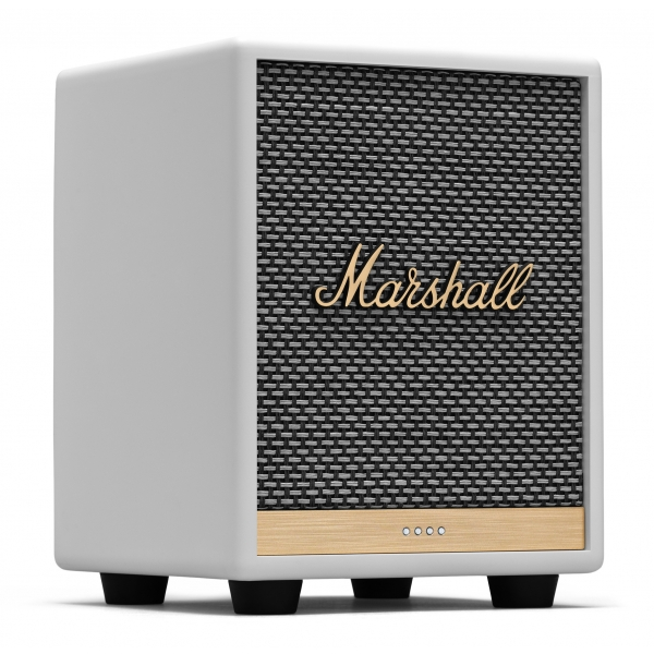 Marshall - Uxbridge Voice with Google Assistant - White - Portable Bluetooth Speaker - Iconic Premium High Quality Speaker