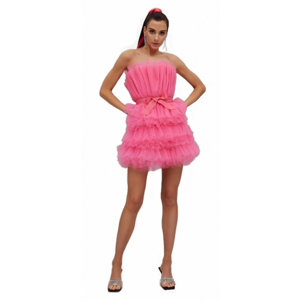 Teen Idol - Mimosa Tulle Mini Dress - Pink - Dresses - Teen-Ager - Luxury Exclusive Collection