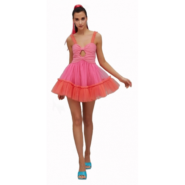 Teen Idol - Gemini Tulle Mini Dress - Pink - Dresses - Teen-Ager - Luxury Exclusive Collection