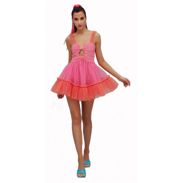 Teen Idol - Mini Dress in Tulle Gemini - Rosa - Abiti - Teen-Ager - Luxury Exclusive Collection