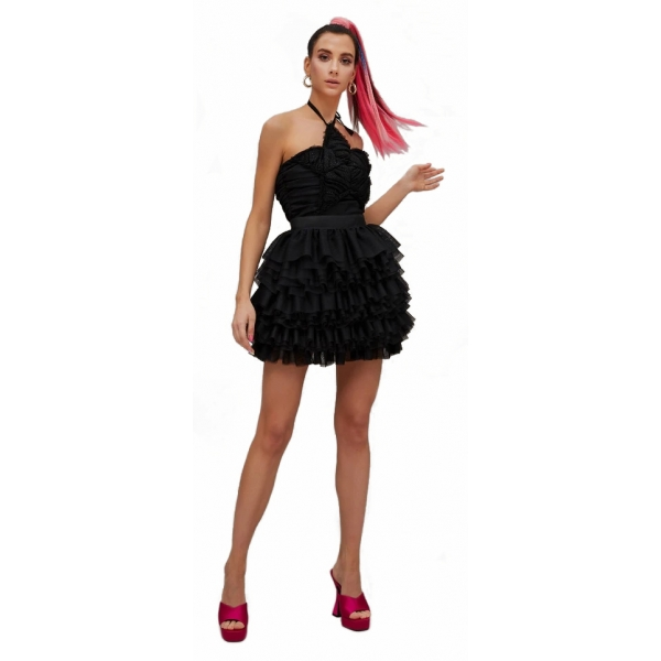 Teen Idol - Andromeda Tulle Mini Dress - Black - Dresses - Teen-Ager - Luxury Exclusive Collection