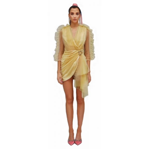 Teen Idol - Quasar Tulle Mini Dress - Gold - Dresses - Teen-Ager - Luxury Exclusive Collection