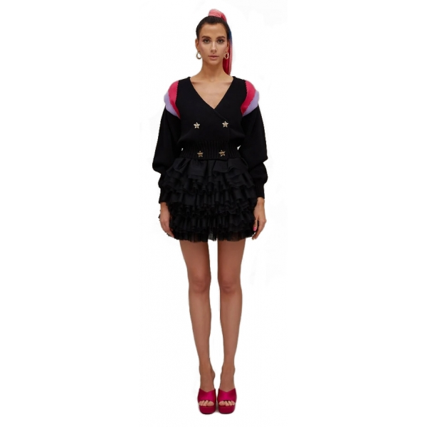 Teen Idol - Adhara Cardigan - Nero - Giacche - Teen-Ager - Luxury Exclusive Collection