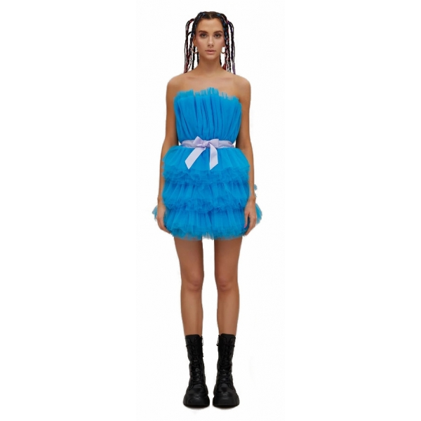 Teen Idol - Mini Dress in Tulle Mimosa - Turchese - Abiti - Teen-Ager - Luxury Exclusive Collection