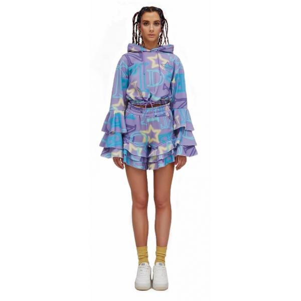 Teen Idol - Alfa Cropped Hoodie - Lilac - Sweatshirts - Teen-Ager - Luxury Exclusive Collection