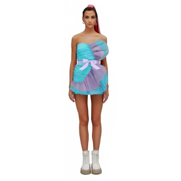 Teen Idol - Mini Dress in Tulle Fenice - Turchese - Abiti - Teen-Ager - Luxury Exclusive Collection