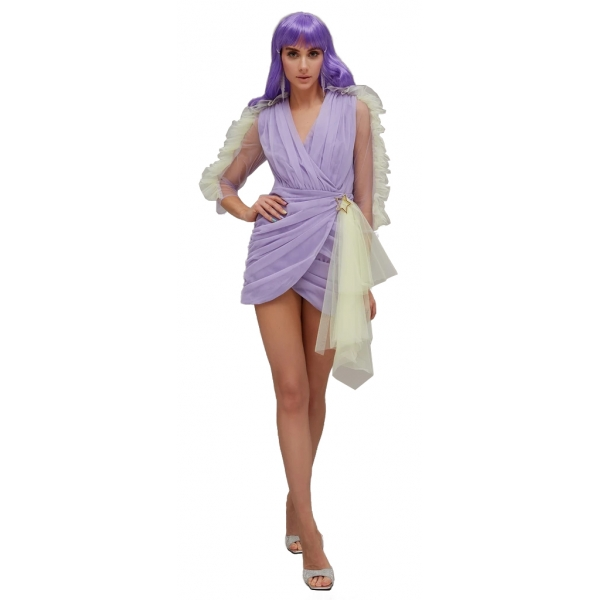 Teen Idol - Mini Dress in Tulle Quasar - Lilla - Abiti - Teen-Ager - Luxury Exclusive Collection