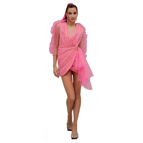 Teen Idol - Mini Dress in Tulle Quasar - Rosa - Abiti - Teen-Ager - Luxury Exclusive Collection