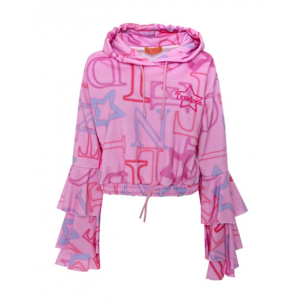 Teen Idol - Alfa Cropped Hoodie - Pink - Sweatshirts - Teen-Ager - Luxury Exclusive Collection