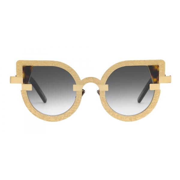 Potrait Eyewear - Charlotte Oro (C.04) - Occhiali da Sole - Realizzati a Mano in Italia - Exclusive Luxury Collection