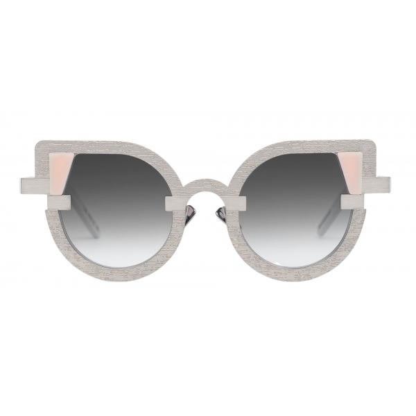 Potrait Eyewear - Charlotte Argento (C.05) - Occhiali da Sole - Realizzati a Mano in Italia - Exclusive Luxury Collection