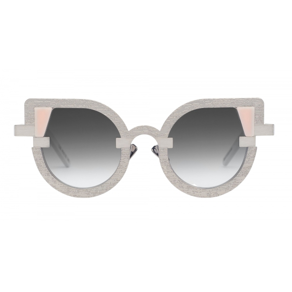 Potrait Eyewear - Charlotte Silver (C.05) - Sunglasses - Handmade in Italy - Exclusive Luxury Collection