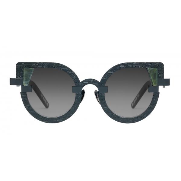 Potrait Eyewear - Charlotte Marmo Verde (C.07) - Occhiali da Sole - Realizzati a Mano in Italia - Exclusive Luxury Collection