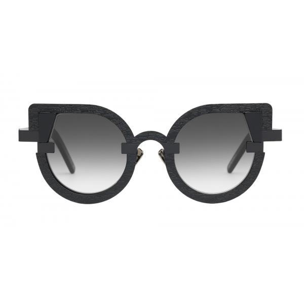 Potrait Eyewear - Charlotte Black (C.01) - Sunglasses - Handmade in Italy - Exclusive Luxury Collection