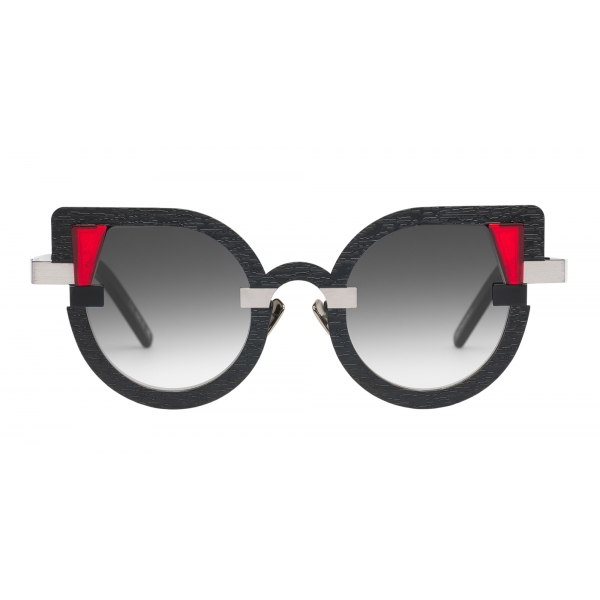 Potrait Eyewear - Charlotte Black and Silver (C.02) - Sunglasses - Handmade in Italy - Exclusive Luxury Collection