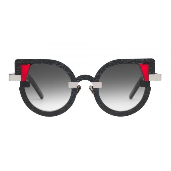 Potrait Eyewear - Charlotte Nero e Argento (C.02) - Occhiali da Sole - Realizzati a Mano in Italia - Exclusive Luxury Collection
