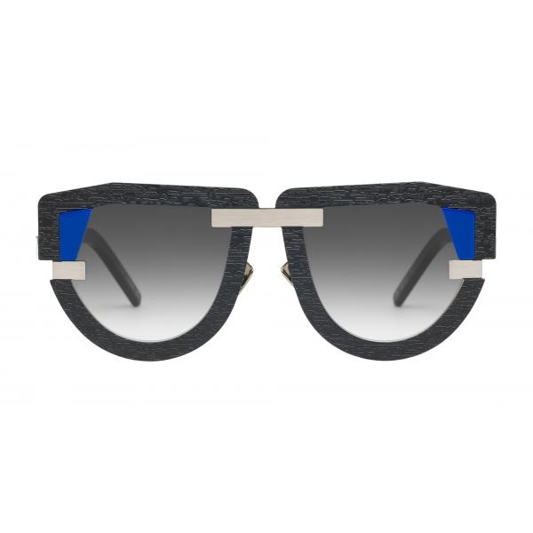 Potrait Eyewear - Interface Nero e Argento (C.02) - Occhiali da Sole - Realizzati a Mano in Italia - Exclusive Luxury Collection